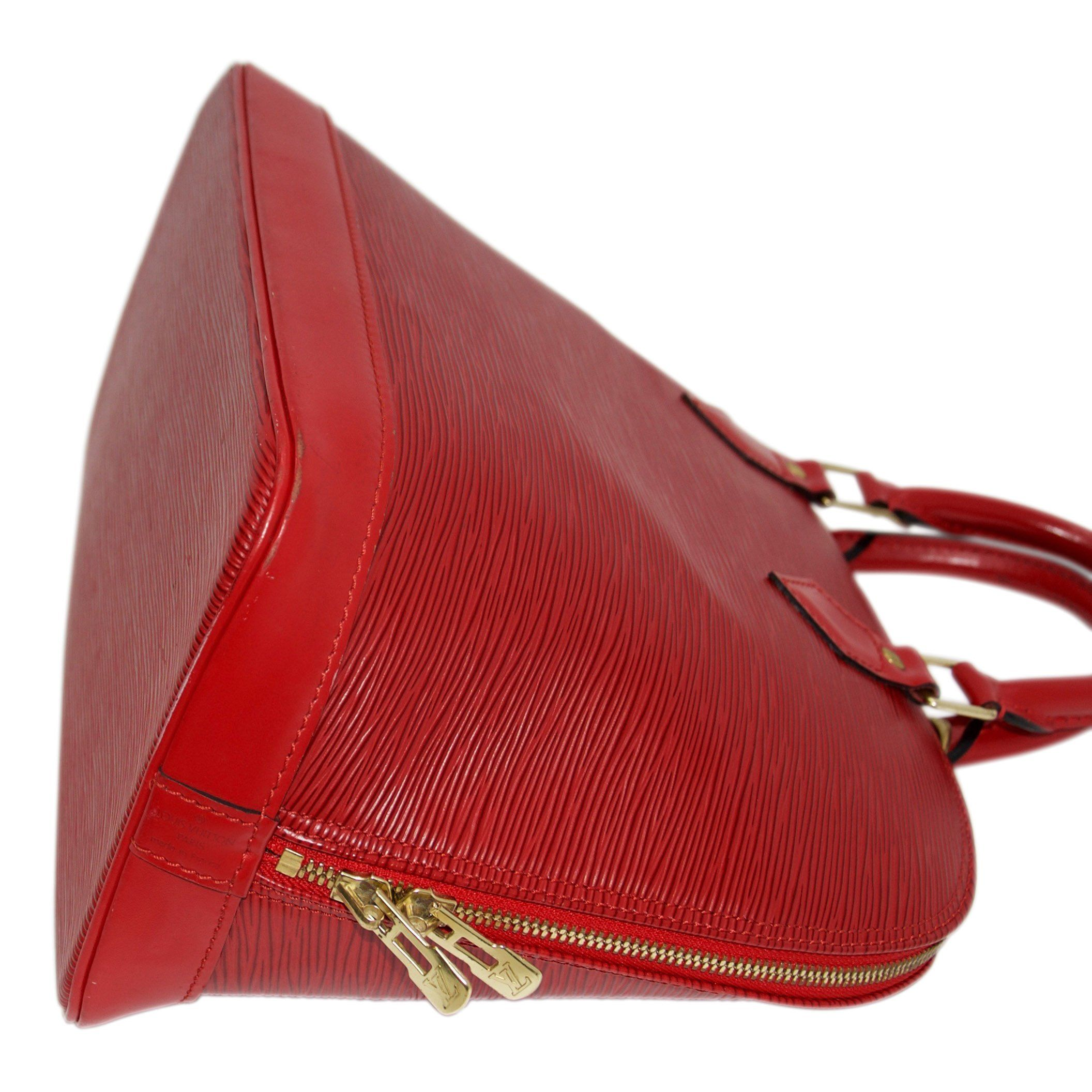 Louis Vuitton Red Epi Leather Alma PM - Oliver Jewellery d5bf989fa3c77