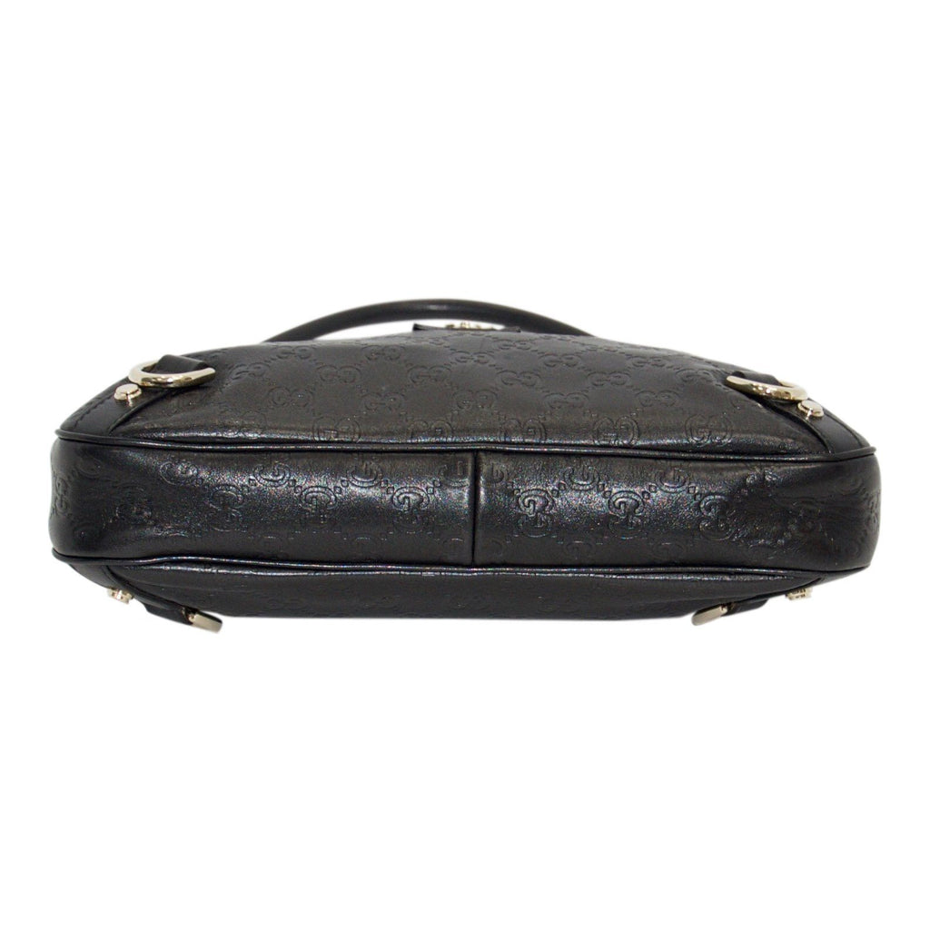 Gucci Black Guccissima D-Ring Abbey Hobo Bags Gucci