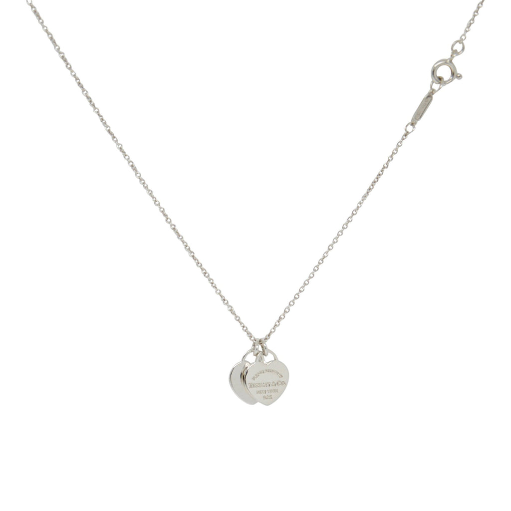 Tiffany & Co. Return to Tiffany Mini Double Heart Tag Pendant Necklace Necklaces Tiffany & Co.