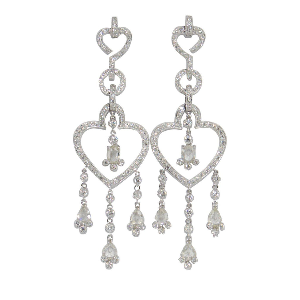 Antique Diamond Drop Earrings Earrings Antiques