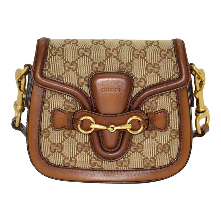 Gucci GG Canvas Lady Web Shoulder Bag