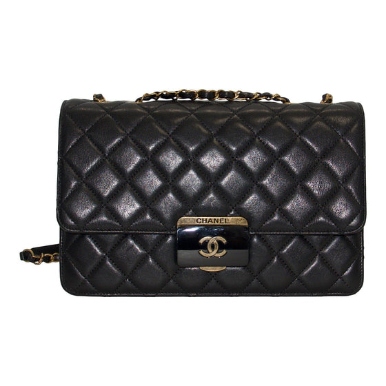 Chanel Black Large Beauty Lock Flap Bag