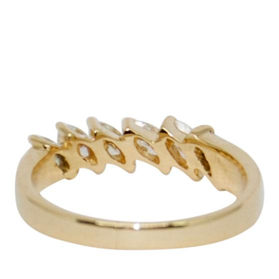Marquise Cut Diamond Band Ring Rings Miscellaneous