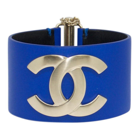 df995f296e5e Chanel Cc Leather Logo Bracelet - Bracelets