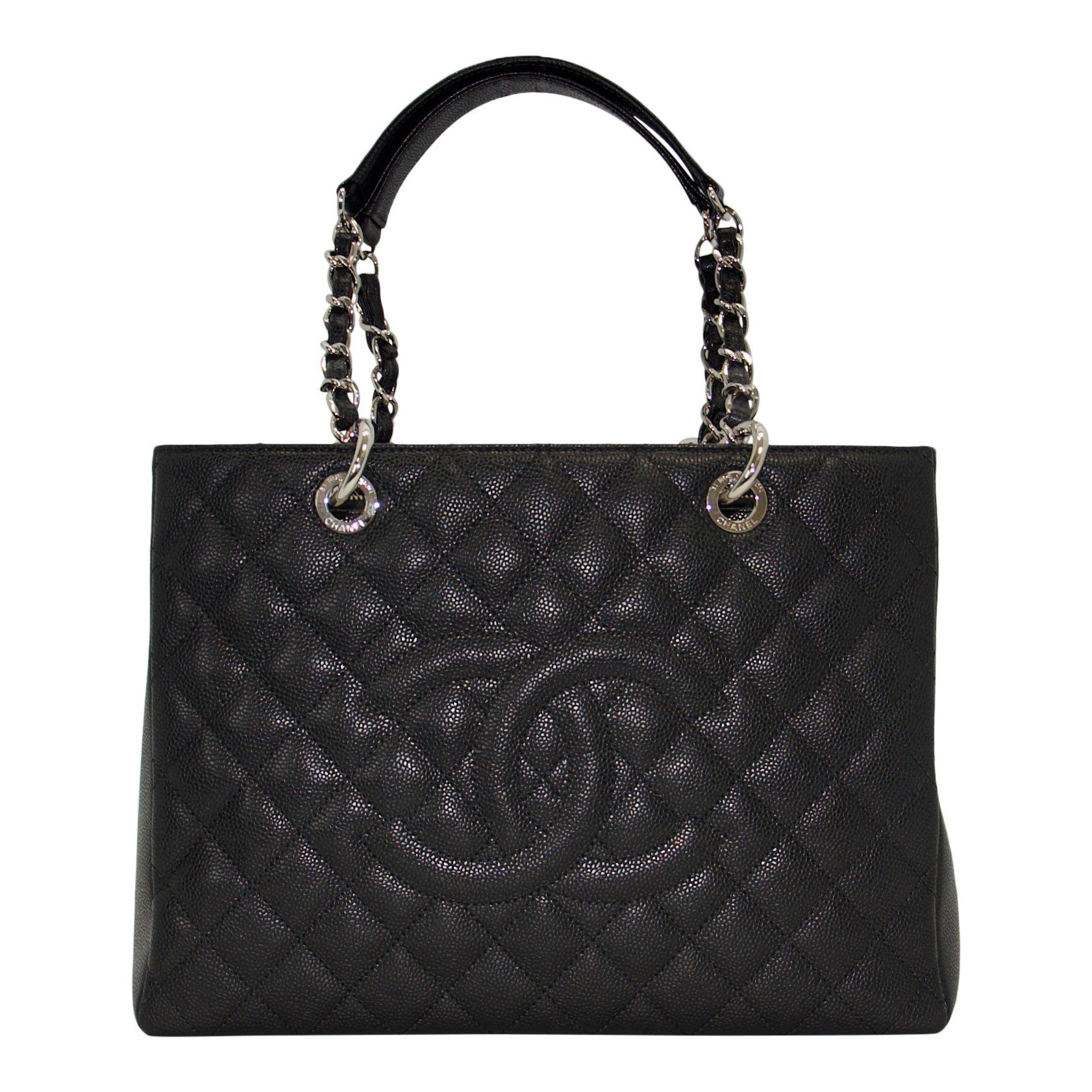 cf422b65bc6f Chanel Black Caviar Leather Grand Shopping Tote (GST)– Oliver Jewellery