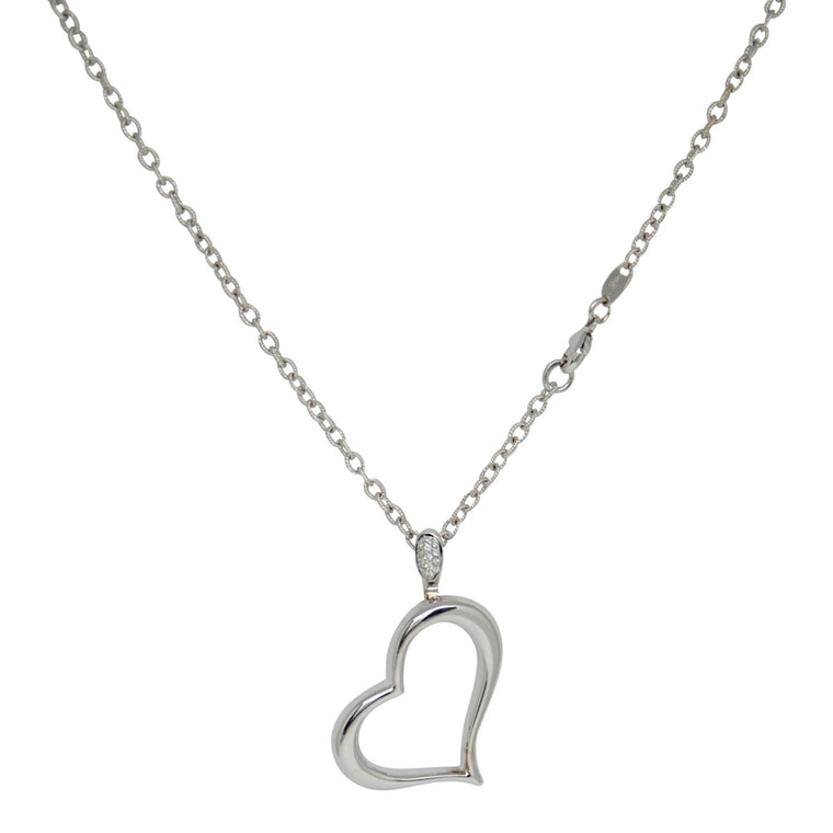 Piaget Heart Pendant Necklace with Diamonds
