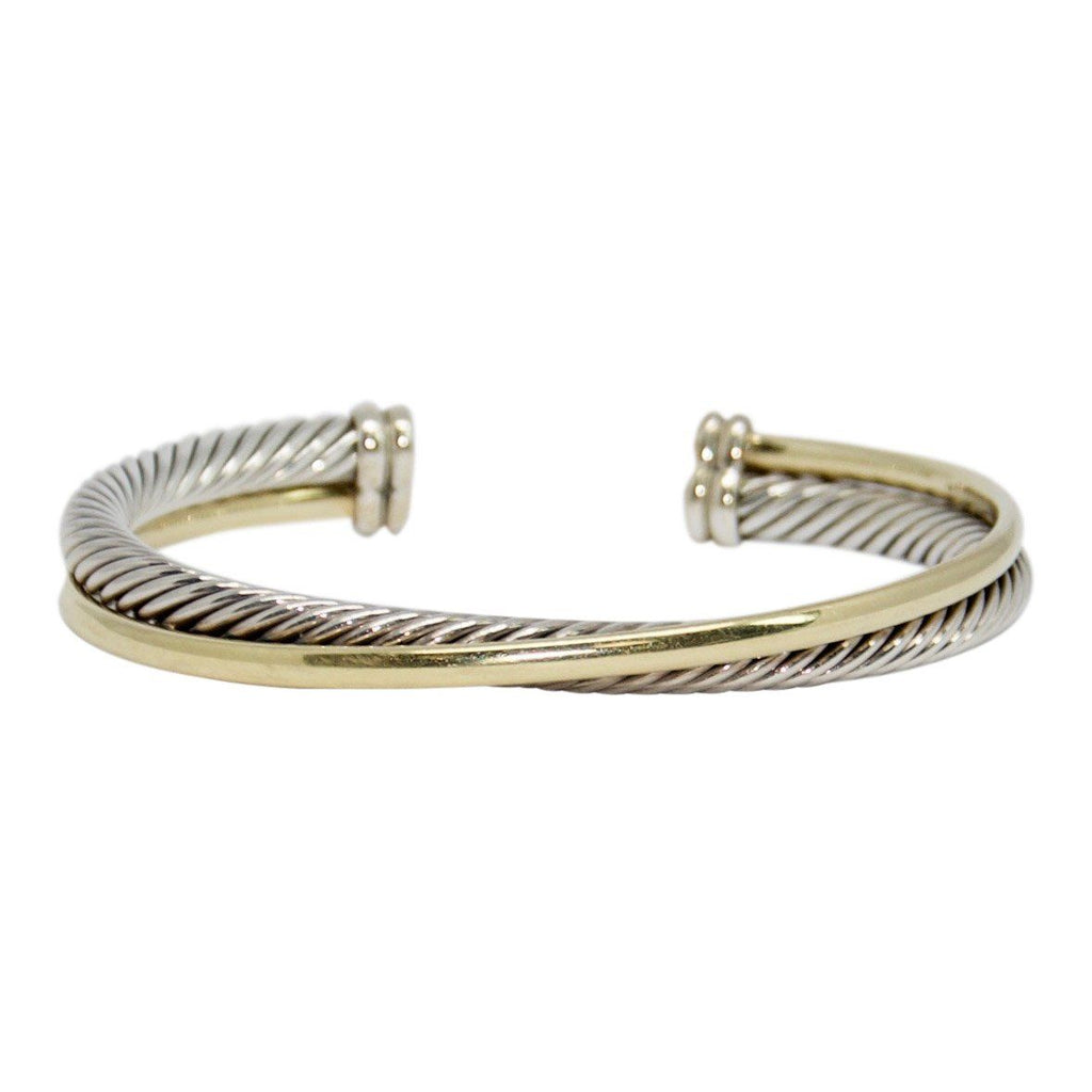 David Yurman Two-Tone Crossover Cuff Bracelet Bracelets David Yurman