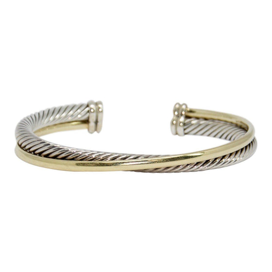 David Yurman Two-Tone Crossover Cuff Bracelet