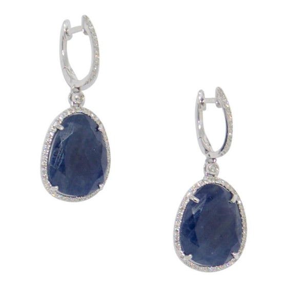 Sapphire and Diamond Drop Earrings Earrings Miscellaneous