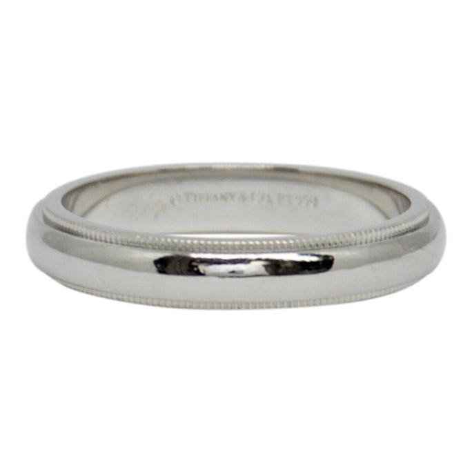 Tiffany & Co. Platinum Classic Milgrain Wedding Band Ring