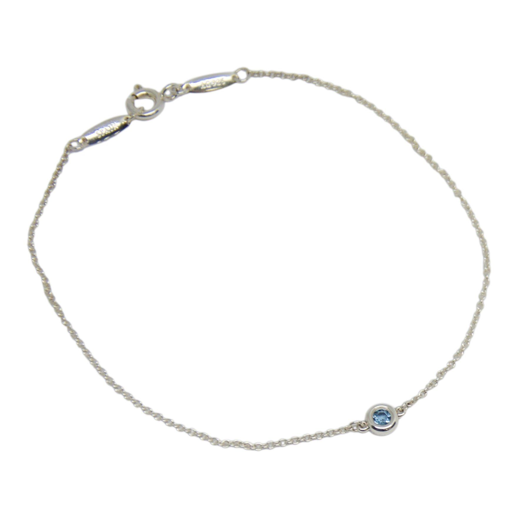 a43eef0c7 Elsa Peretti Color by the Yard Bracelet with Aquamarine Bracelets Tiffany  ...