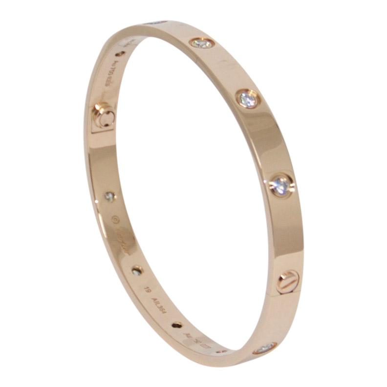 Cartier Love Bracelet With 10 Diamonds - Bracelets