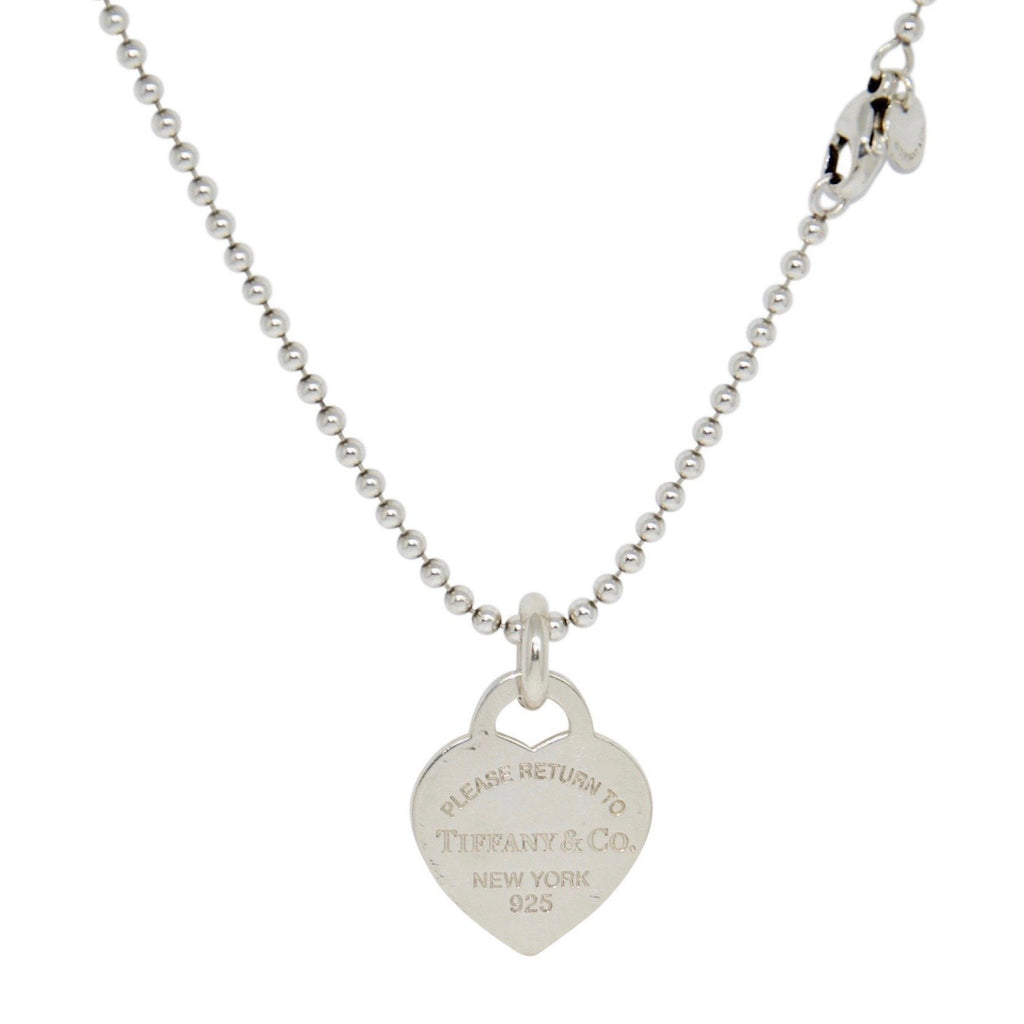 Tiffany & Co. Return To Tiffany Extra Large Heart Tag Pendant On Beaded Chain - Necklaces