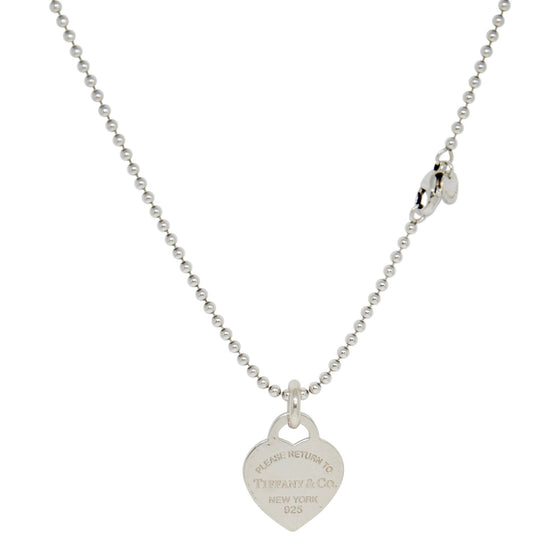 Tiffany & Co. Return to Tiffany Medium Heart Tag Pendant on Beaded Chain