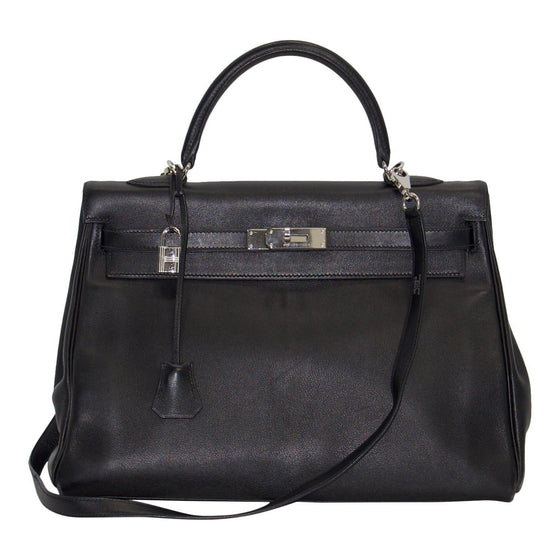 Hermes Black Swift Leather Kelly 35