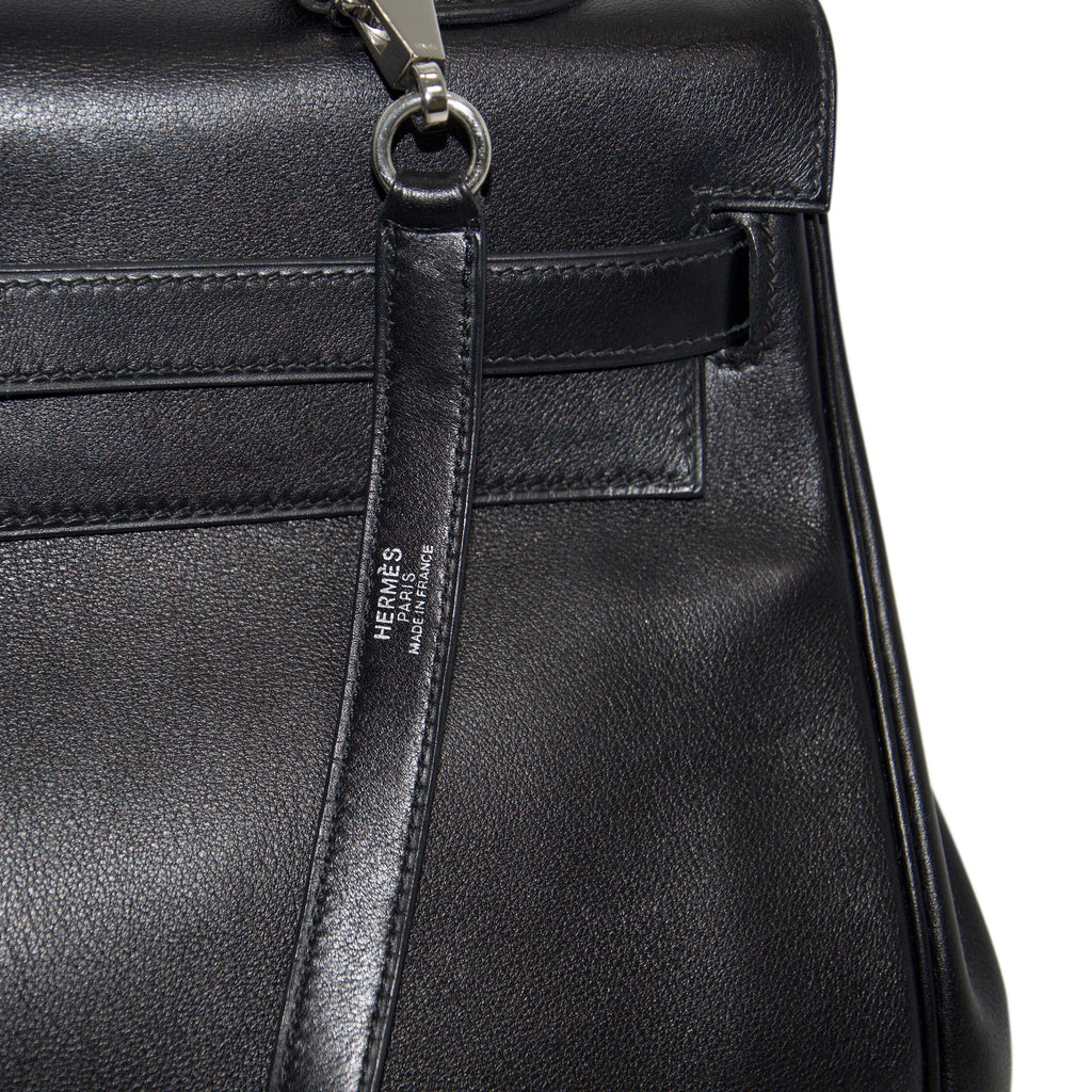 Hermes Black Swift Leather Kelly 35 - Bags