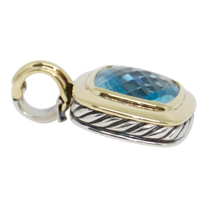 David Yurman Two-Tone Blue Topaz Albion Pendant - Charms & Pendants