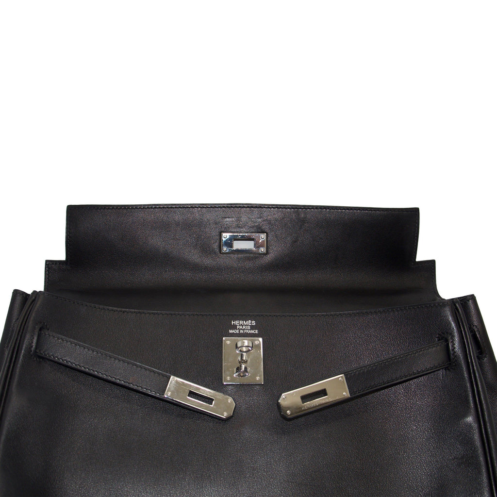 Hermes Black Swift Leather Kelly 35 Bags Hermes