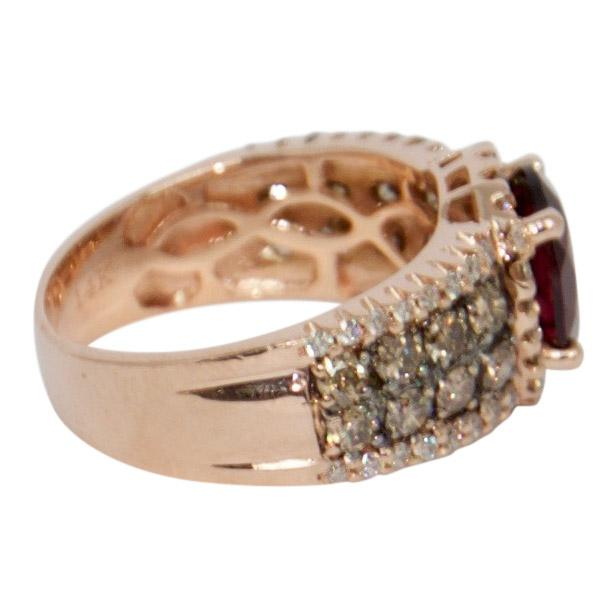 Pyrope Garnet and Diamond Cocktail Ring Rings Miscellaneous