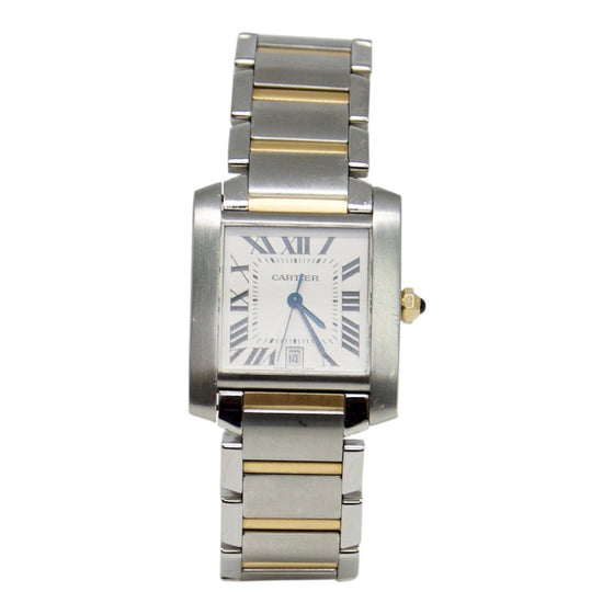 Cartier Two-Tone Tank Francaise Watch, Large Model