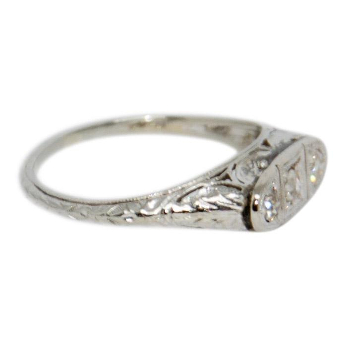 Antique Art Deco Diamond Ring Rings Antiques