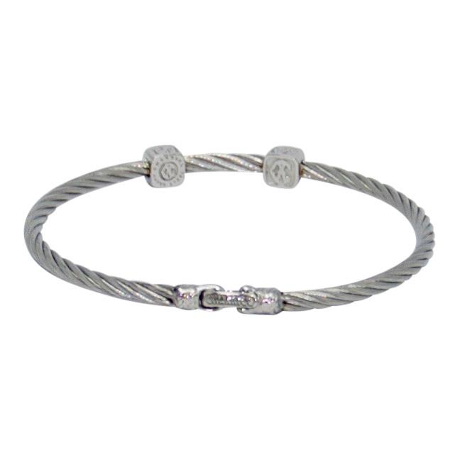 Charriol Diamond Two Station Cable Bracelet