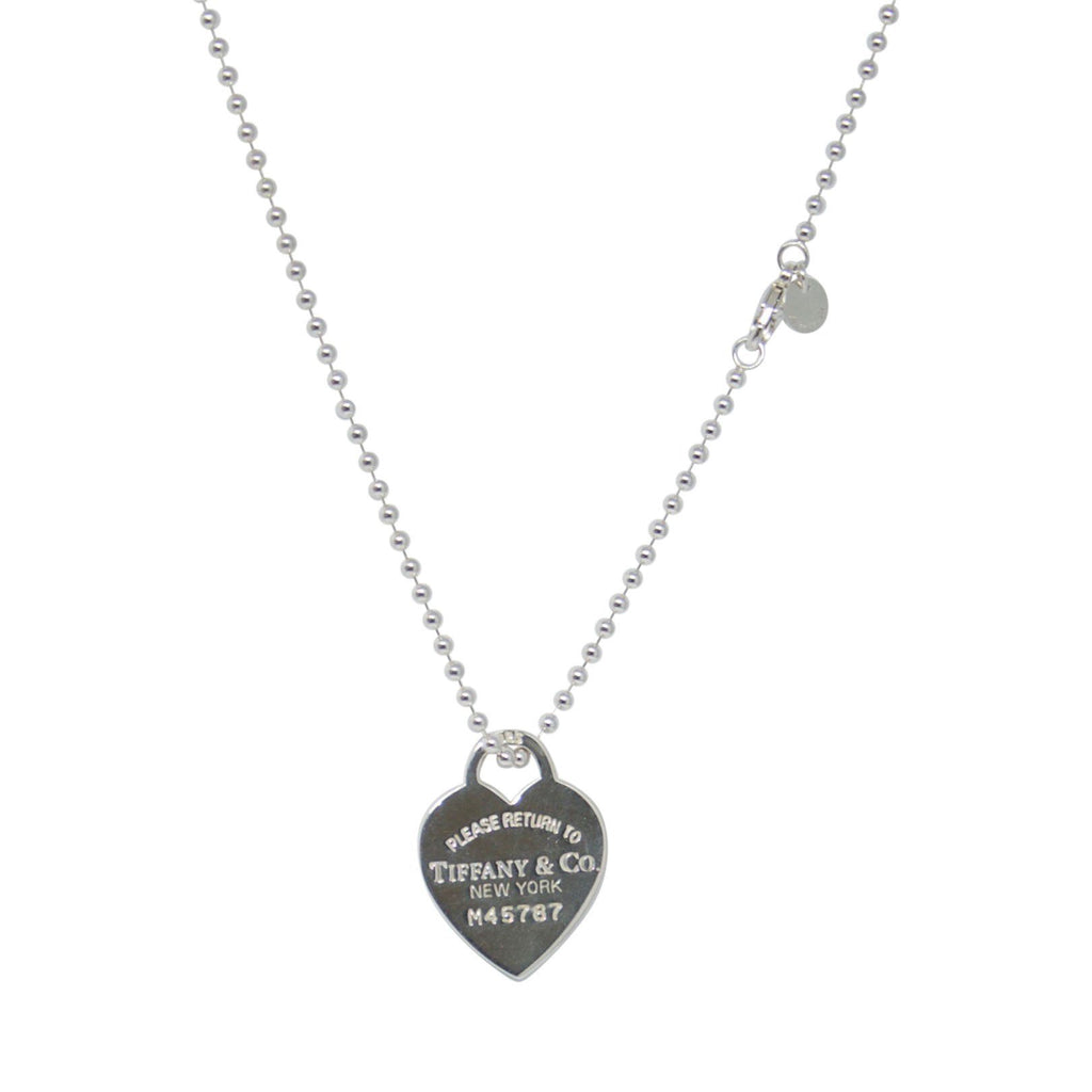 Tiffany & Co. Return to Tiffany Large Heart Tag Pendant on Beaded Chain