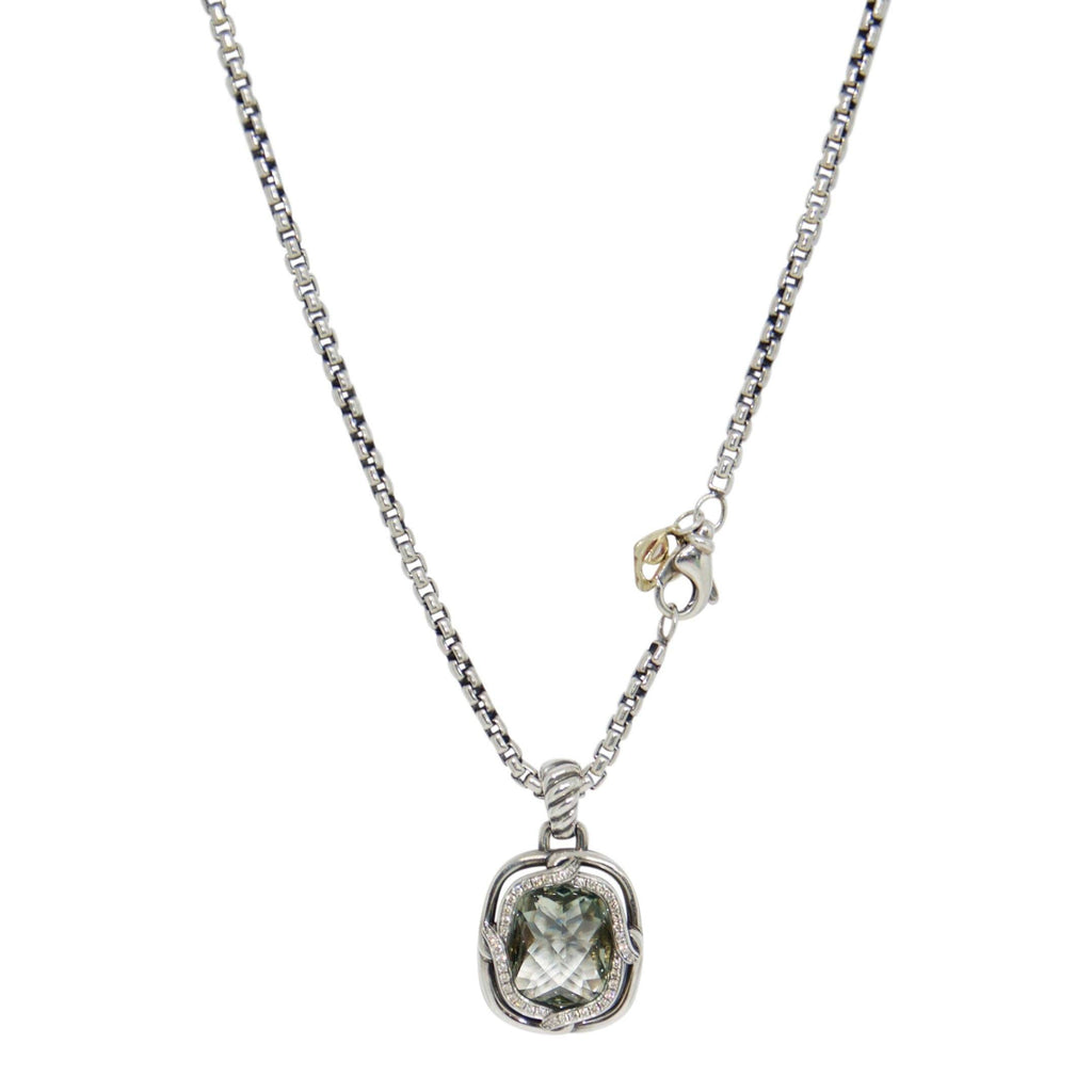 David Yurman Prasiolite And Diamond Pendant Necklace - Necklaces
