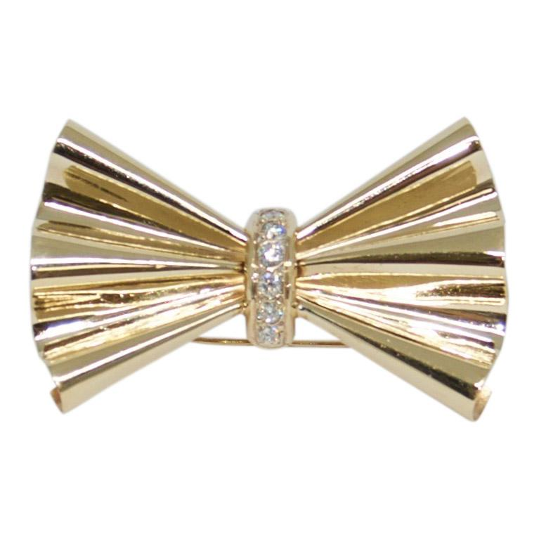Diamond Bow Brooch Brooches & Pins Miscellaneous