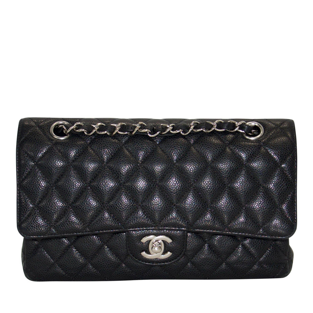 Chanel Black Caviar Medium Classic Double Flap Bag Bags Chanel