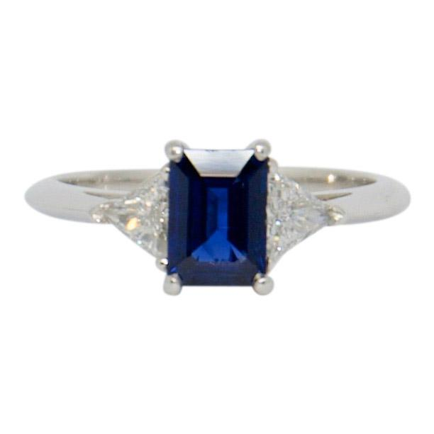 Tiffany & Co. Sapphire and Diamond Cocktail Ring