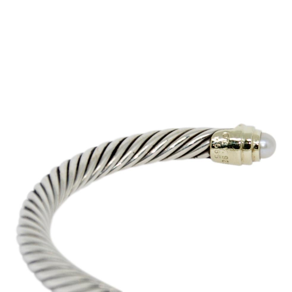 David Yurman Cable Classics Bracelet With Pearls - Bracelets