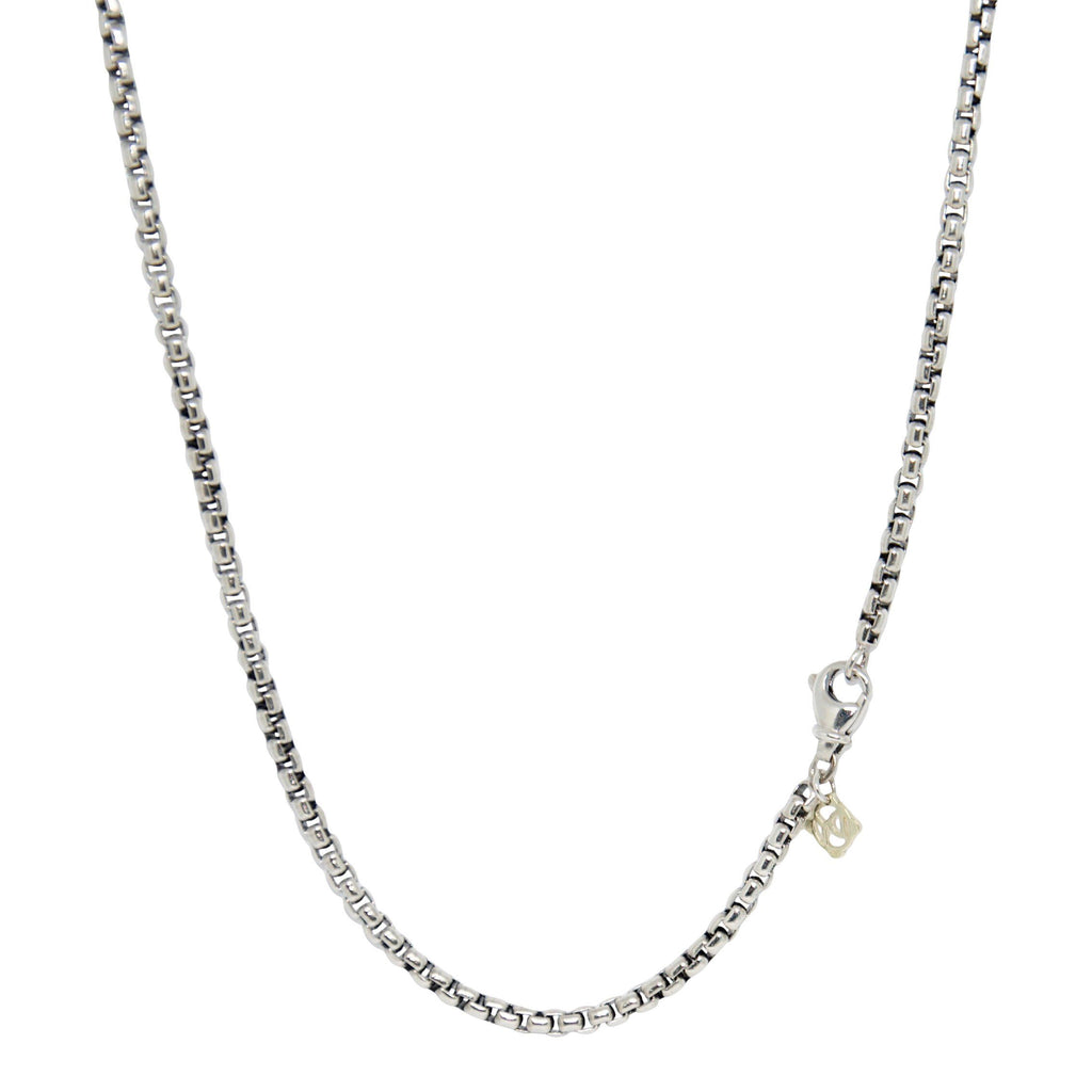 David Yurman Medium Box Chain Necklace with Gold Decal