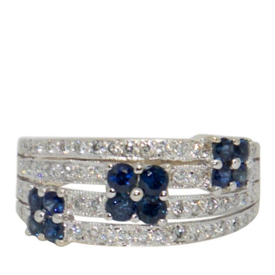 Sapphire and Diamond Cocktail Ring