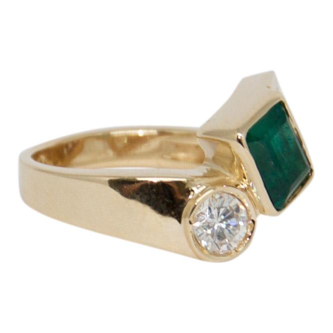 Emerald and Diamond Ring Rings Miscellaneous