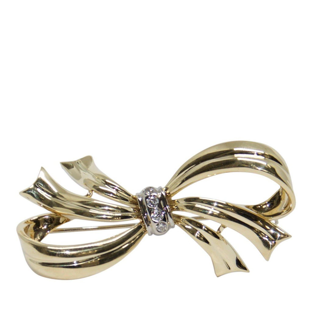 Perfecta Diamond Bow Brooch Brooches & Pins Miscellaneous