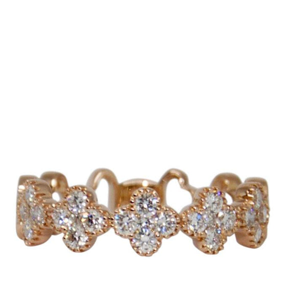 Diamond Clover Band Ring Rings Miscellaneous