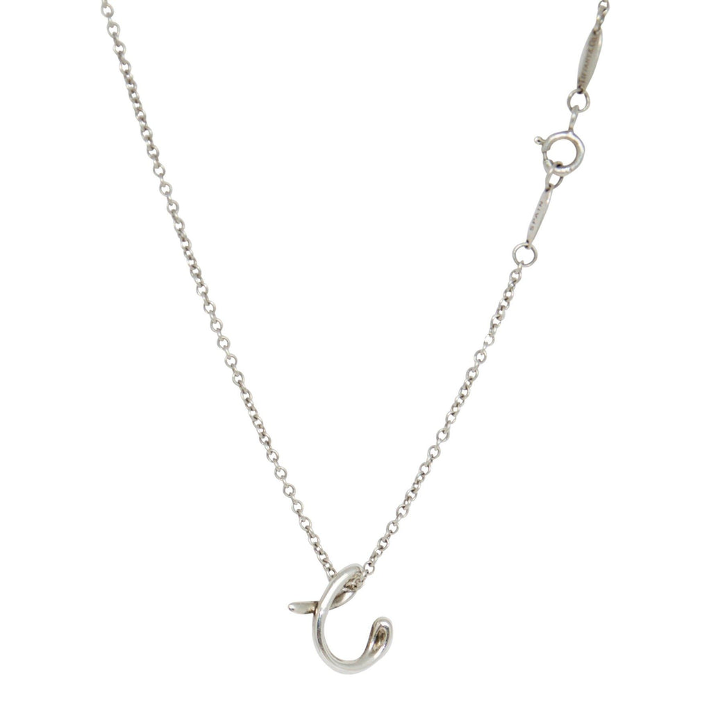 Tiffany & Co. Elsa Peretti Letter 'C' Pendant Necklace