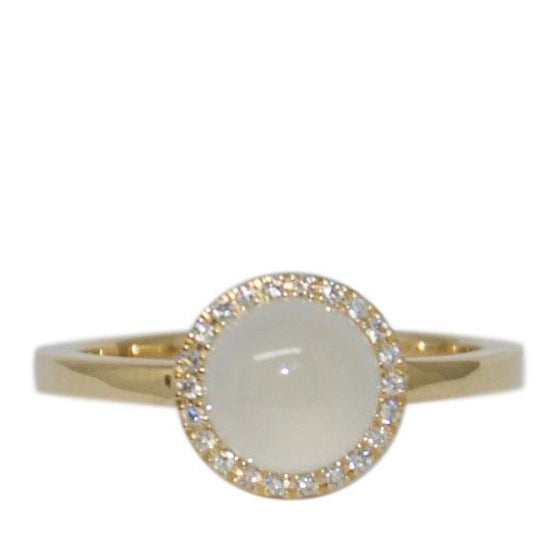 Moonstone and Diamond Ring Rings Miscellaneous