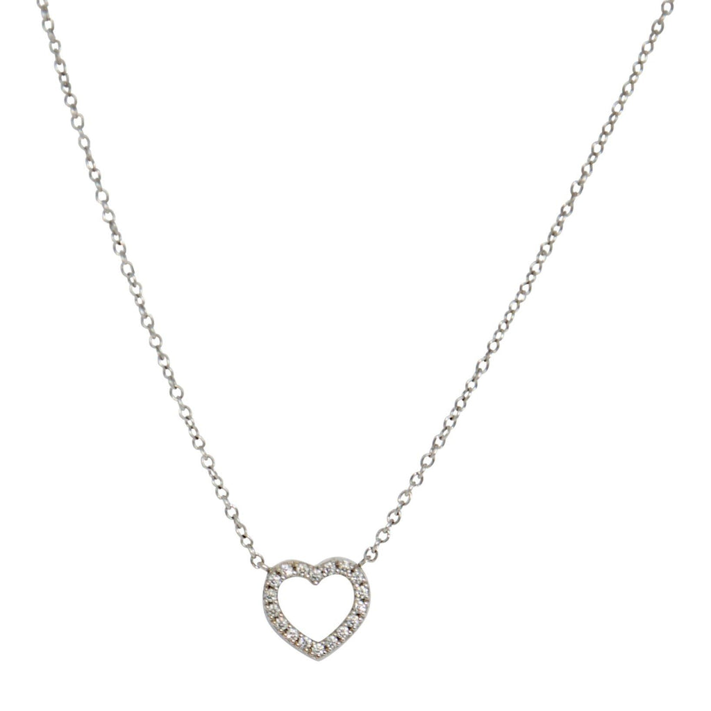 Tiffany & Co. Mini Diamond Heart Pendant Necklace Necklaces Tiffany & Co.