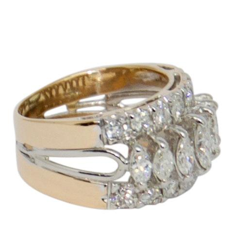 Three-Row Diamond Band Ring Rings Miscellaneous