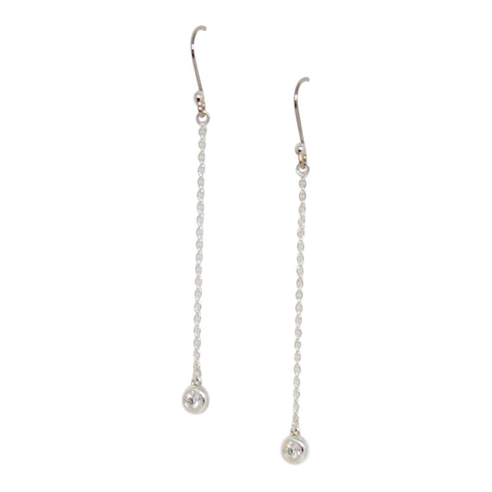 Tiffany & Co. Elsa Peretti Diamonds by the Yard Drop Earrings Earrings Tiffany & Co.