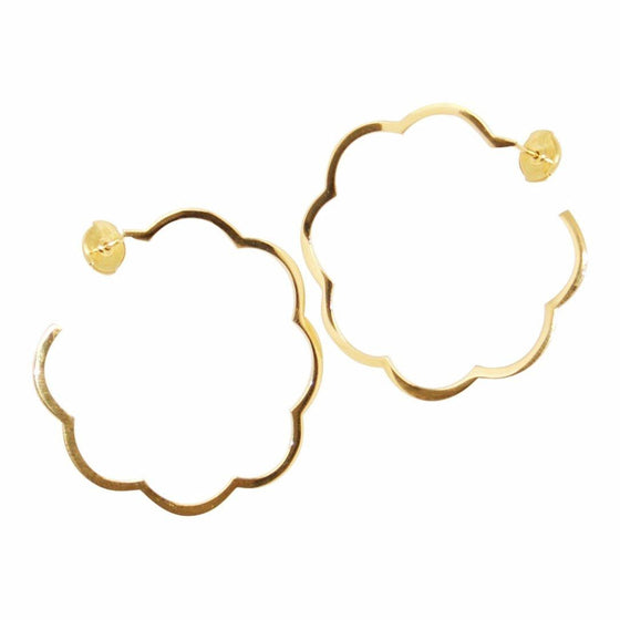 e46727c4d83 Chanel 18k Profil De Camelia Hoop Earrings