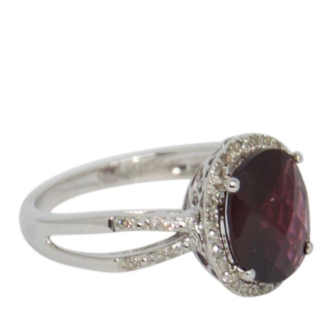Rhodolite and Diamond Cocktail Ring Rings Miscellaneous