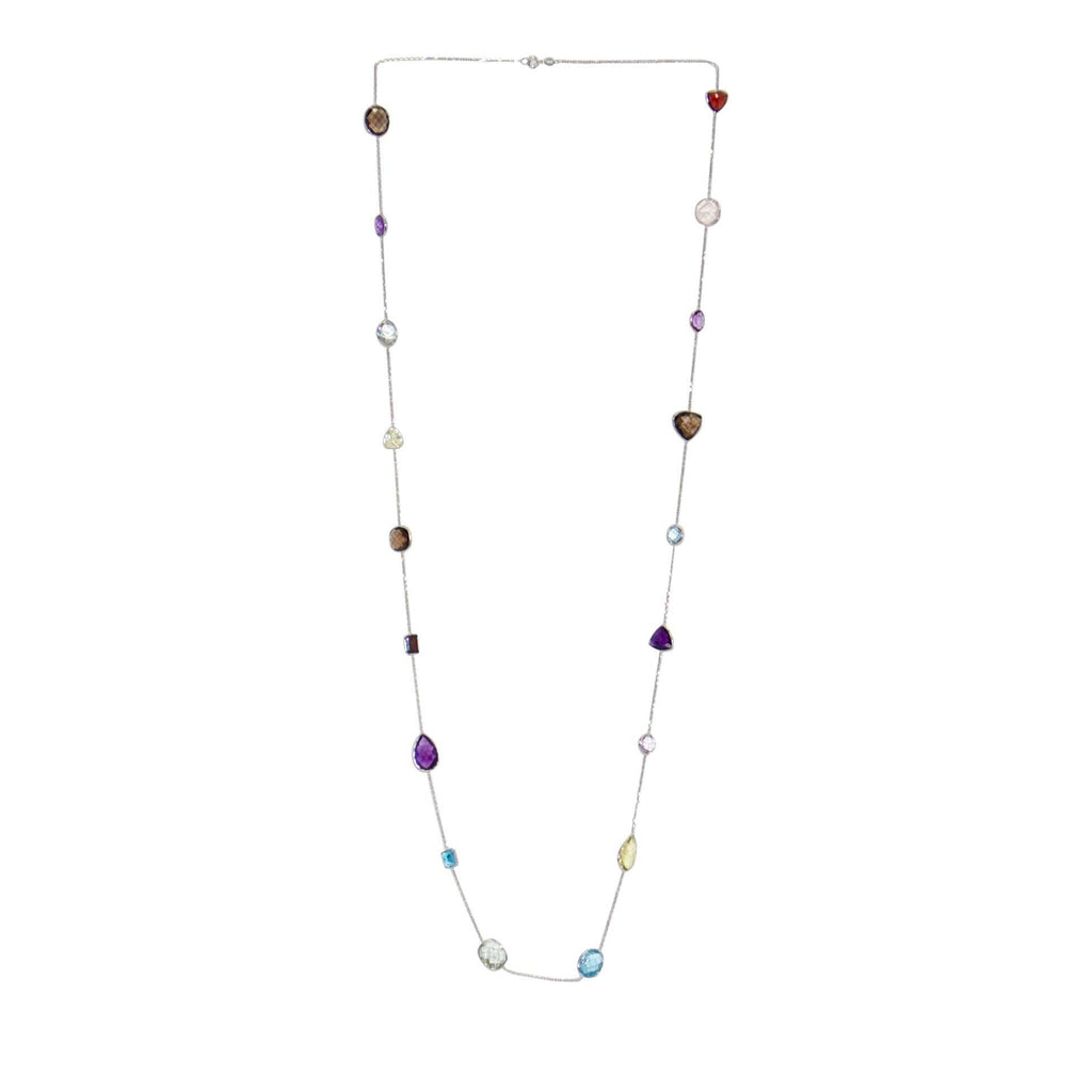 Coloured Stone Chain Necklace Necklaces Miscellaneous
