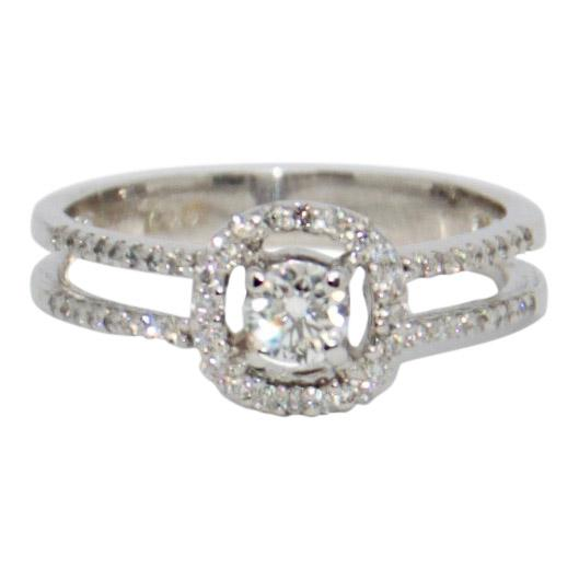 Halo Diamond Engagement Ring Rings Miscellaneous
