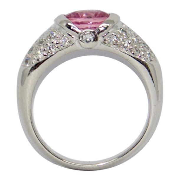 Pink Sapphire and Diamond Cocktail Ring Rings Miscellaneous