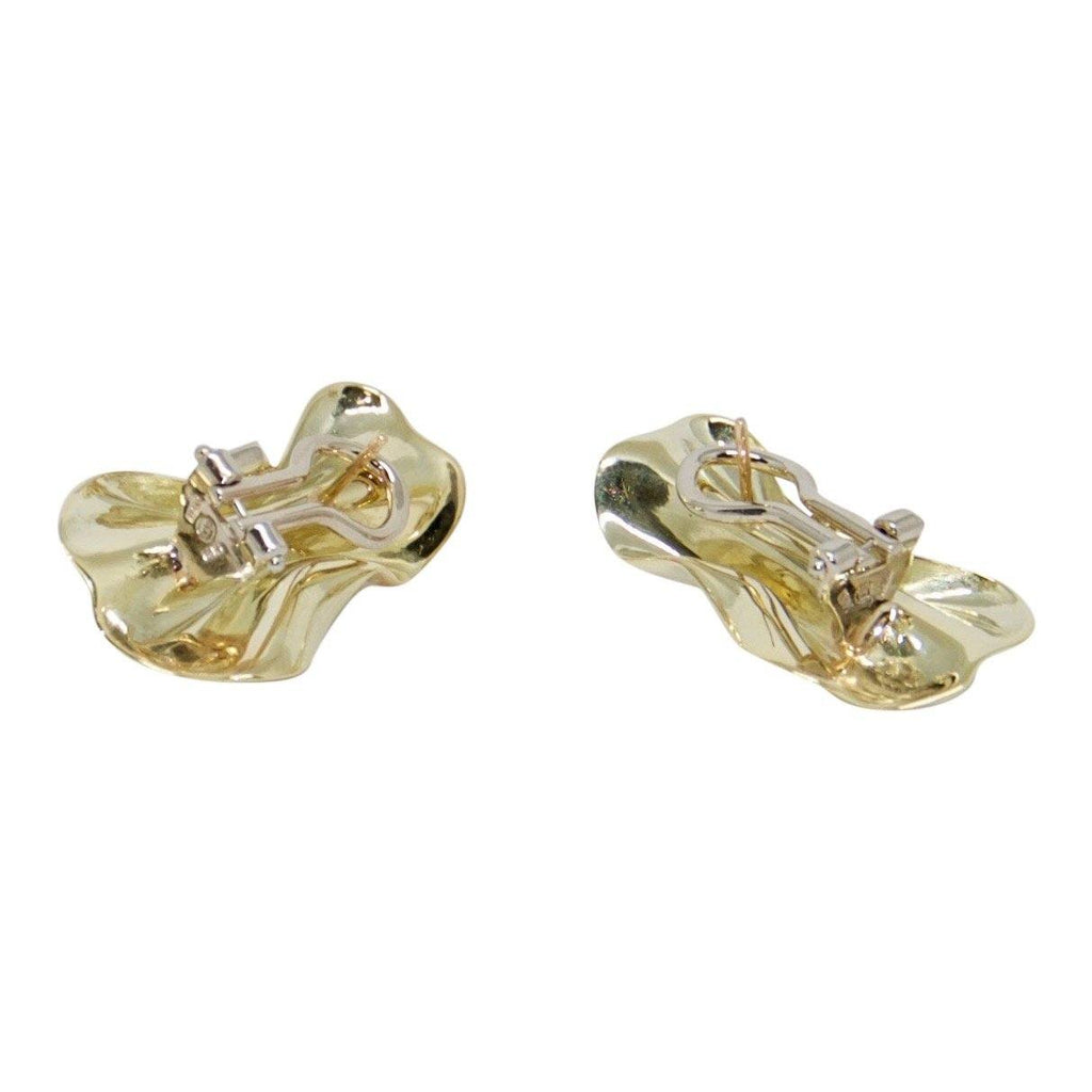 French Back Bow Diamond Earrings