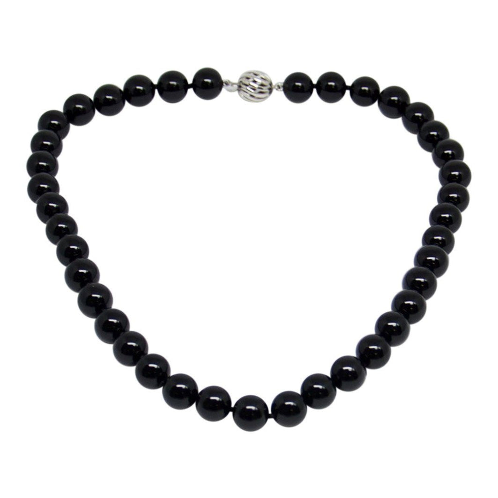 Tiffany & Co. Black Onyx Bead Necklace - Charms & Pendants