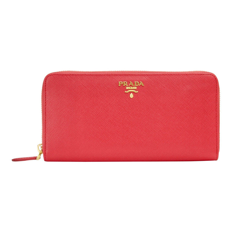 Prada Saffiano Zip Around Wallet